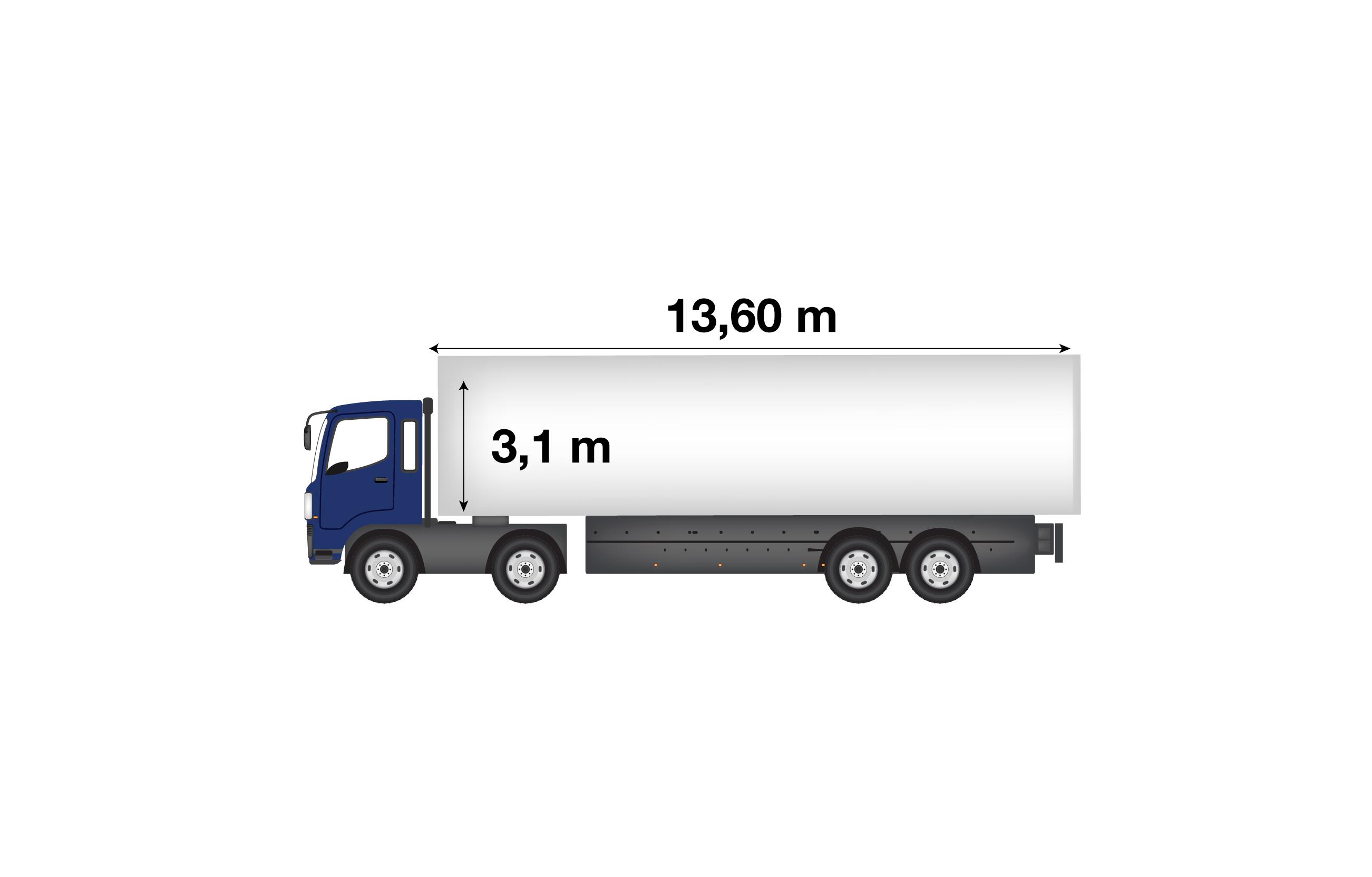 <p>Bilico Mega (13,60 mt x 3,1 mt)</p>